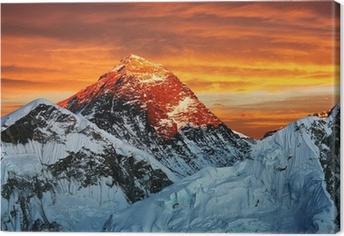 Leinwandbild Abend farbige Ansicht von Everest vom Kala Pattar