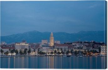 Leinwandbild Abend in Split.