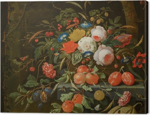 Leinwandbild Abraham Mignon - Flowers and Fruit - Reproduktion