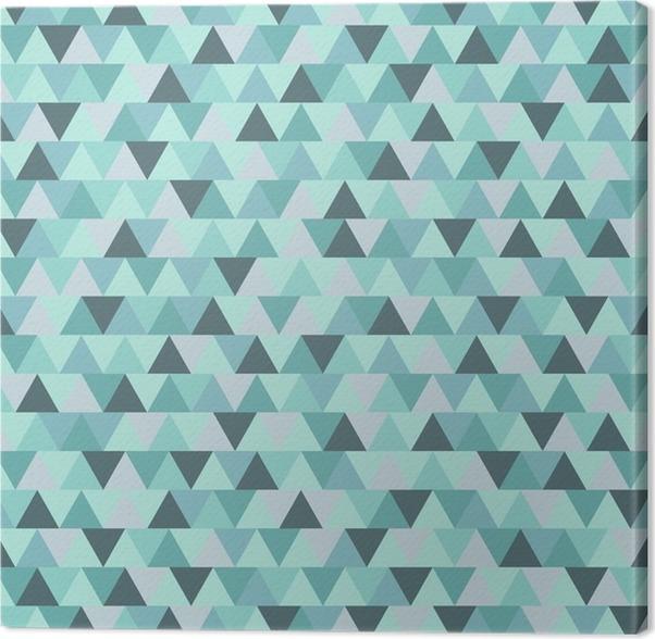 Leinwandbild abstract christmas dreiecksmuster blau grau geometrischen winter urlaub - Leinwandbild grau ...