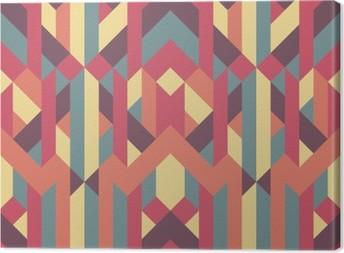 Leinwandbild Abstrakt retro geometrische Muster