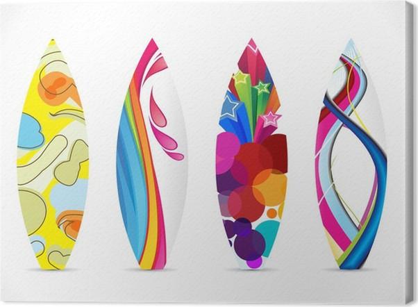 Leinwandbild Abstrakte farbenfrohe Surfbrett-Symbol • Pixers® - Wir ...