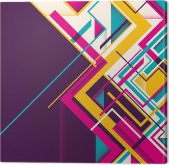 Leinwandbild Abstrakte geometrische Abbildung.