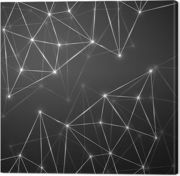 Fesselnd Leinwandbild Abstrakte Geometrische Hintergrund Mit Verbindungs Punkte Und  Linien. Moderne Technologie Konzept