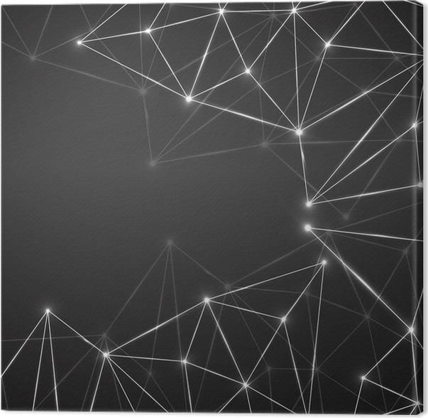 Perfekt Leinwandbild Abstrakte Geometrische Hintergrund Mit Verbindungs Punkte Und  Linien. Moderne Technologie Konzept