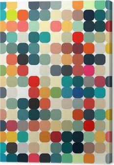 Leinwandbild Abstrakte geometrische Retro-Muster nahtlose für Ihr Design