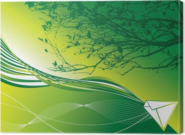 Leinwandbild Abstrakte Grüne Erde Mail