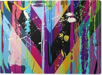 Leinwandbild Abstrakte Hintergrund, mit Schlaganfällen, Spritzer und geometrischen Linien