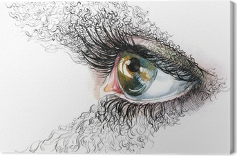 Leinwandbild Abstrakte menschliche Augen