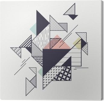 Leinwandbild Abstrakte moderne geometrische Zusammensetzung