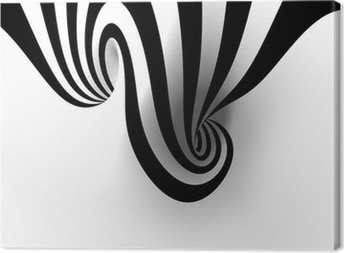 Leinwandbild Abstrakte Spirale mit leeren Raum