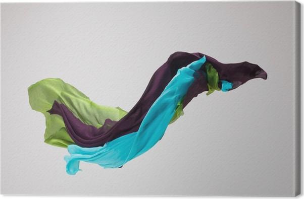 Leinwandbild Abstrakte Stoff in Bewegung • Pixers® - Wir leben, um ...