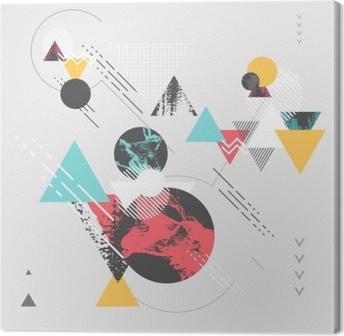 Leinwandbild Abstrakter moderner geometrischer Hintergrund
