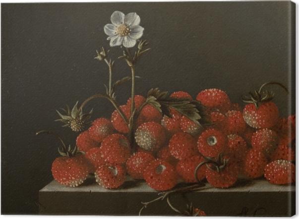 Leinwandbild Adriaen Coorte - Still Life with Wild Strawberries - Reproduktion