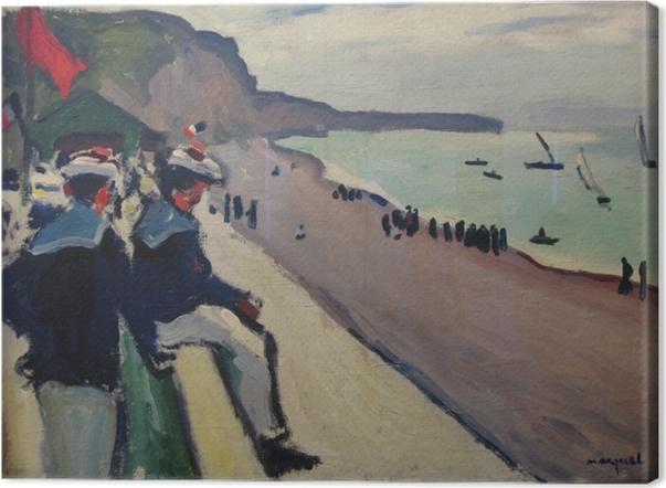Leinwandbild Albert Marquet - Der Strand von Fécamp - Reproductions