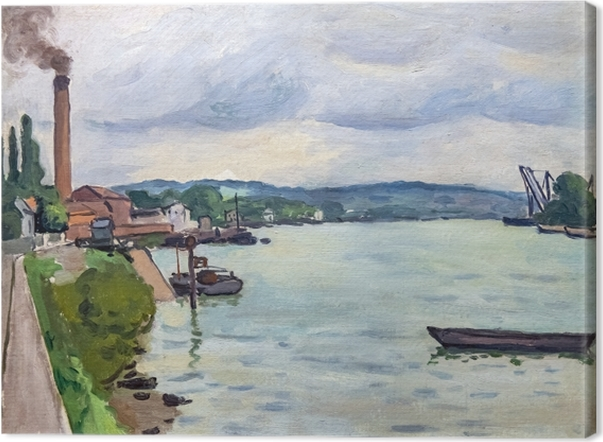 Leinwandbild Albert Marquet - Die Seine (in der Nähe von Rouen) - Reproductions