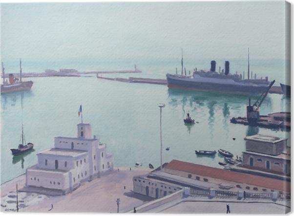 Leinwandbild Albert Marquet - Hafen von Algier, Admiralsgebäude - Reproductions