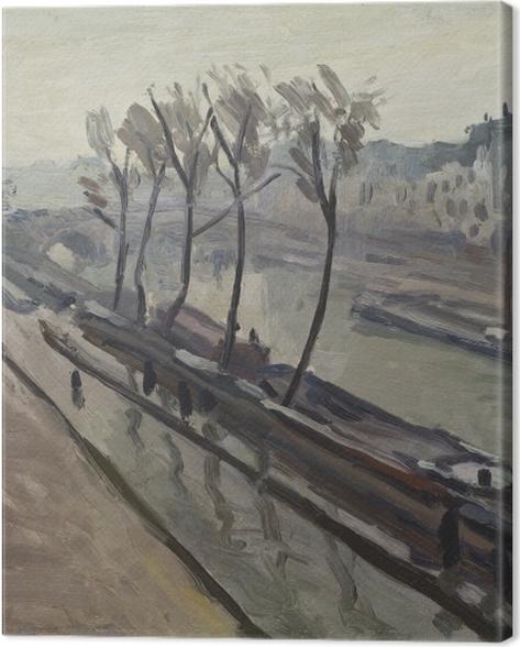 Leinwandbild Albert Marquet - Kai der Grands-Augustins im Regen - Reproductions