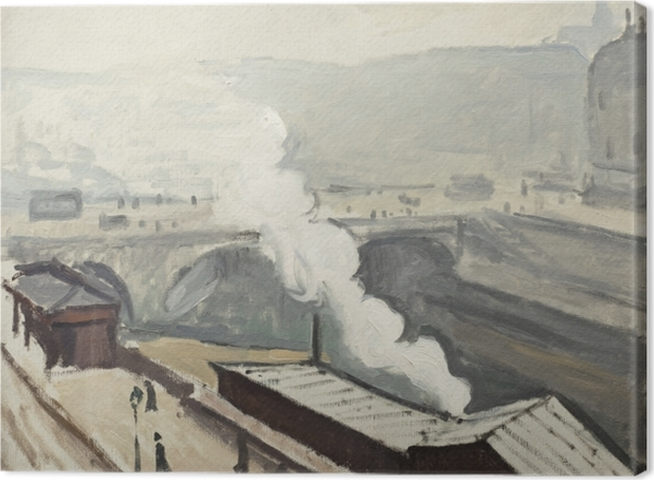 Leinwandbild Albert Marquet - Rauch auf dem Kai Saint-Michel - Reproductions