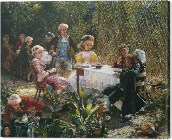 Leinwandbild Aleksander Gierymski - In der Laube - Reproductions