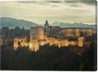 Leinwandbild Alhambra Palace at Dusk