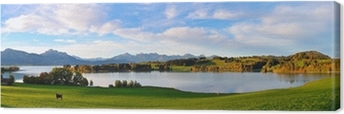 Leinwandbild Allgäu Panorama Forgensee