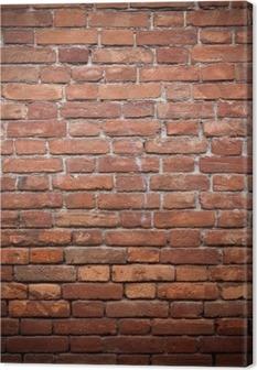 Leinwandbild Alt Grunge rote Mauer Textur