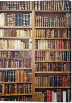 Leinwandbild Alte Bücher, Bibliothek