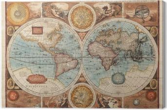 Leinwandbild Alte Karte (1626)