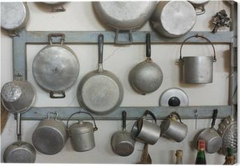 Leinwandbild Alte Küchenausstattung