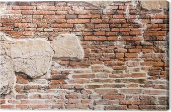Leinwandbild Alte Mauer-Fragment