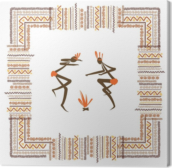 leinwandbild alte stammes menschen ethnische ornament rahmen f r ihr design pixers wir. Black Bedroom Furniture Sets. Home Design Ideas