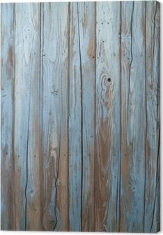 Leinwandbild Alten blauen Holzwand
