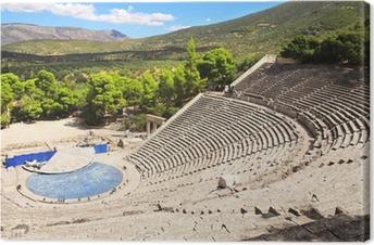 Leinwandbild Alten Epidaurus Theater, Peloponnes, Griechenland