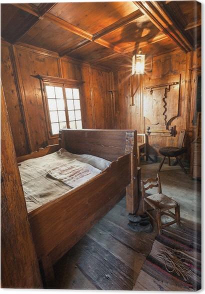 Leinwandbild Altes Schlafzimmer • Pixers® - Wir leben, um zu verändern