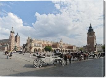 Leinwandbild Altstädter Ring in Krakau, Polen