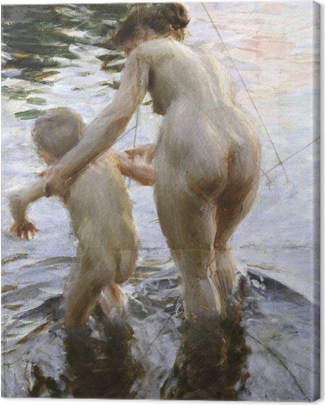 Leinwandbild Anders Zorn - Das erste Mal - Reproductions