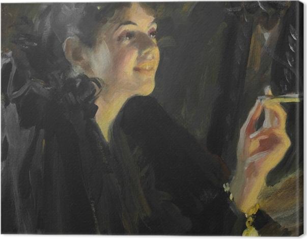 Leinwandbild Anders Zorn - Mädchen mit Zigarette - Reproductions
