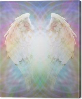 Leinwandbild Angel Wings auf mehrfarbigen Matrix Web