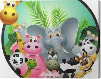 Leinwandbild Animal cartoon