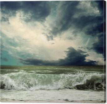 Leinwandbild Ansicht der Sturm Seestück
