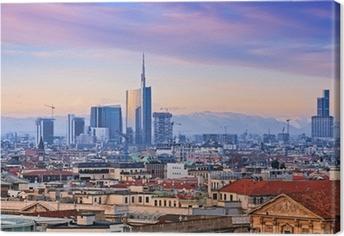 """Leinwandbild Ansicht von Milan `s Geschäftsviertel von"""" Duomo di Milano """"."""