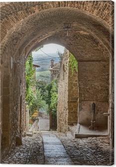 Leinwandbild Antiken italienischen Gasse