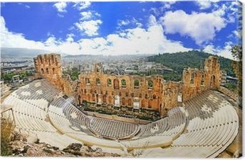 Leinwandbild Antiken Theater in Griechenland Akropolis, Athnes