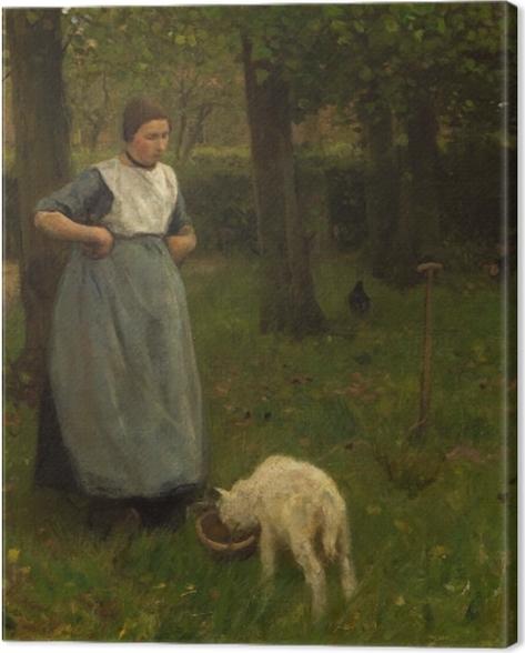 Leinwandbild Anton Mauve - Eine Frau aus Laren mit einem Schaf - Reproductions