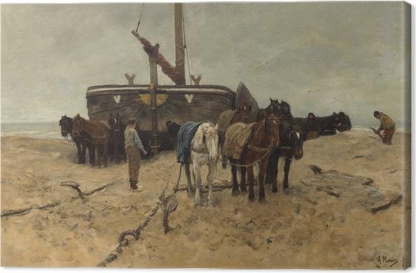 Leinwandbild Anton Mauve - Fischerboot am Strand - Reproductions