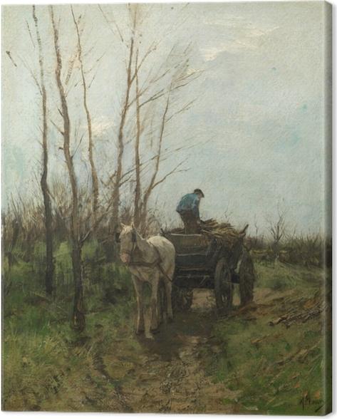 Leinwandbild Anton Mauve - Holz sammeln - Reproductions