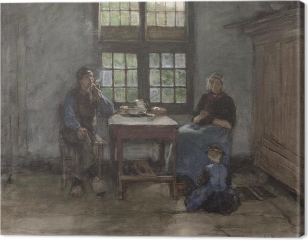 Leinwandbild Anton Mauve - Interieur eines Haus in Laren - Reproductions