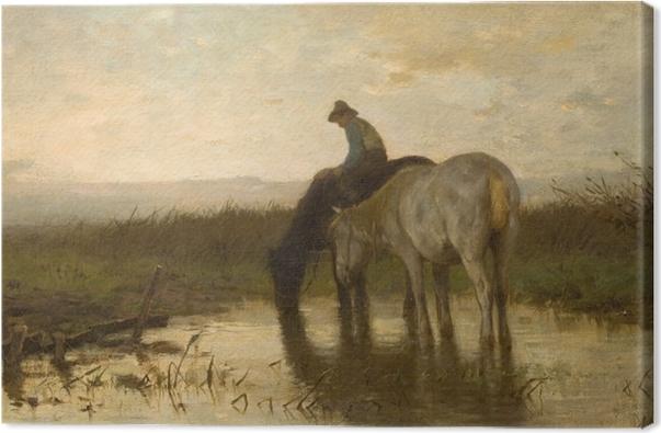 Leinwandbild Anton Mauve - Pferde am Wasserloch - Reproductions
