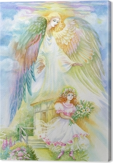 "Leinwandbild Aquarell ""Angel"""